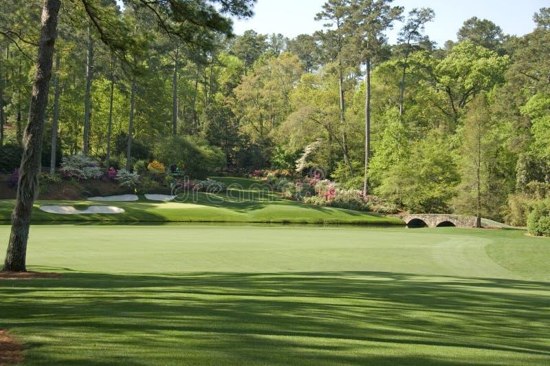 12de gat bij golfcursus royalty-vrije stock foto