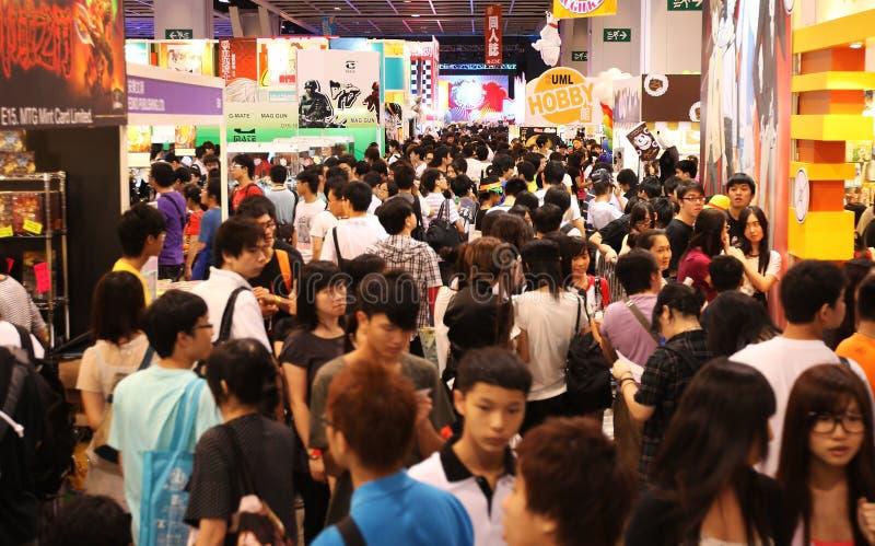 12th anicom spelar Hong Kong royaltyfria bilder