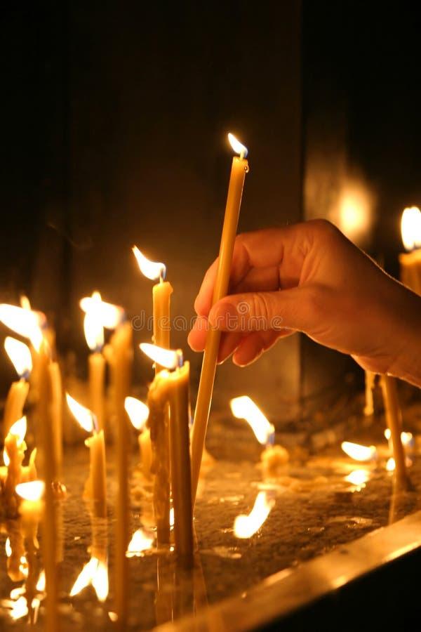 13个蜡烛新 库存图片