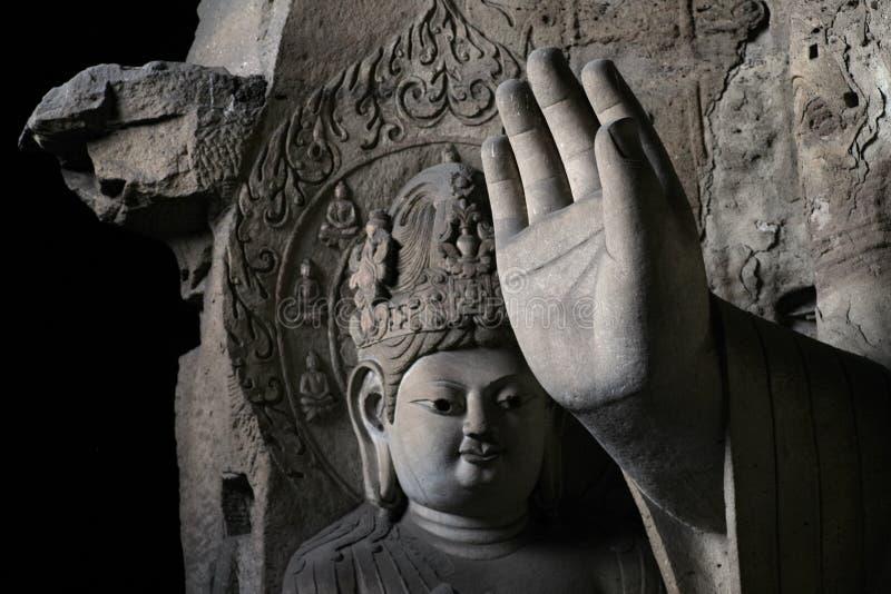 13雕刻的石yungang 免版税图库摄影
