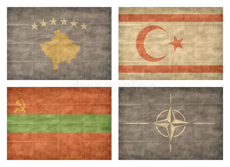 13 ευρωπαϊκές σημαίες χωρών ελεύθερη απεικόνιση δικαιώματος