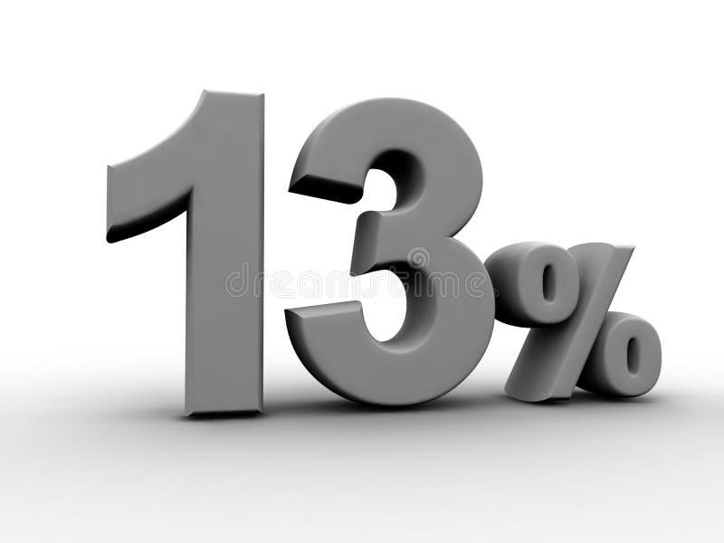 13 τοις εκατό απεικόνιση αποθεμάτων