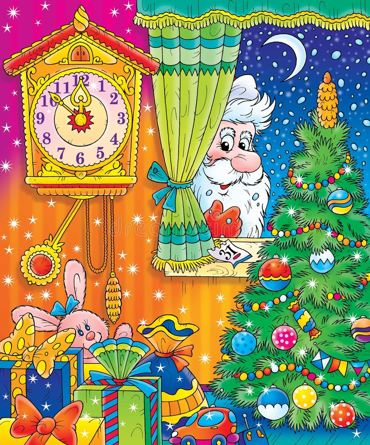 13 Новый Год иллюстрация штока