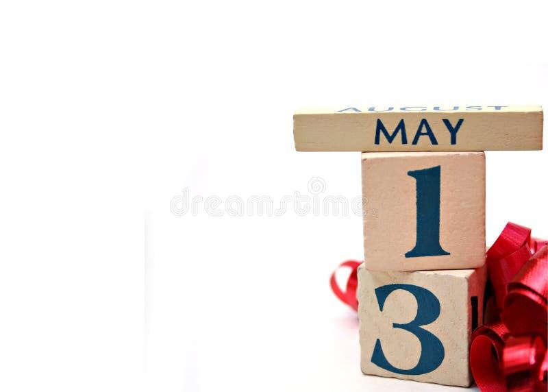 13-ое мая стоковая фотография rf