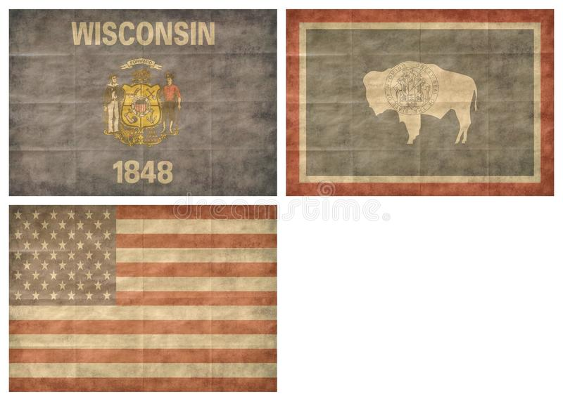 13/13 US state flags stock photography