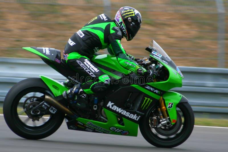 13 Anthony ocidental - Kawasaki que compete a equipe fotos de stock