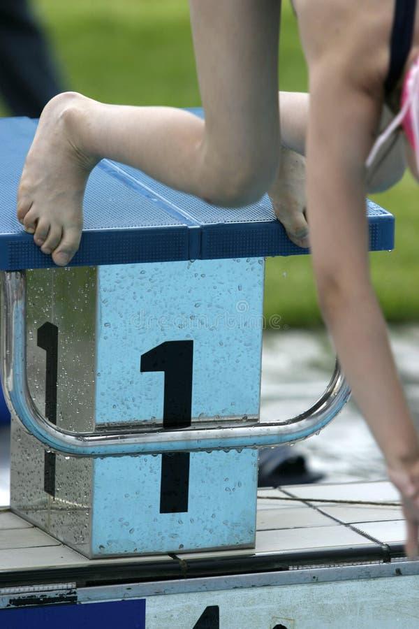 13 basenów dopłynięcie fotografia stock