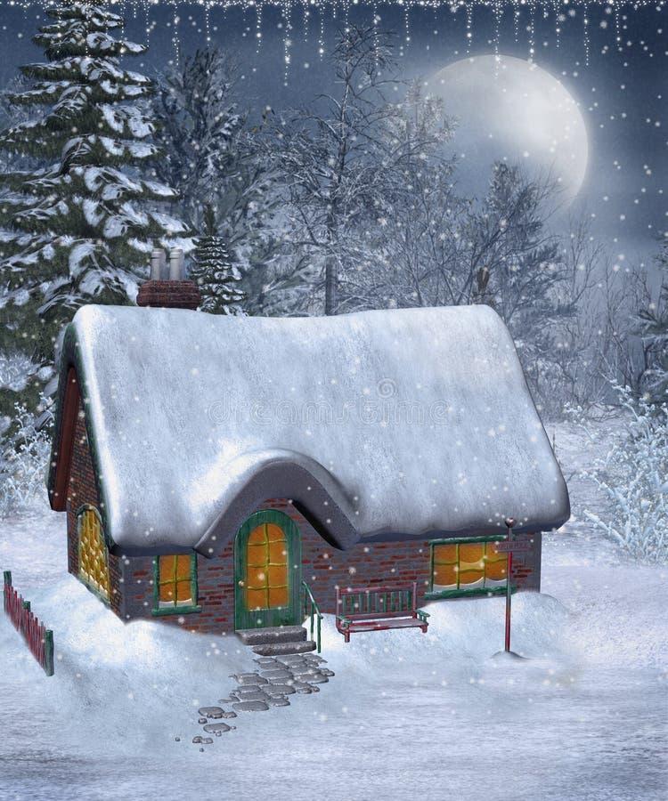 13 scenerii zima ilustracja wektor