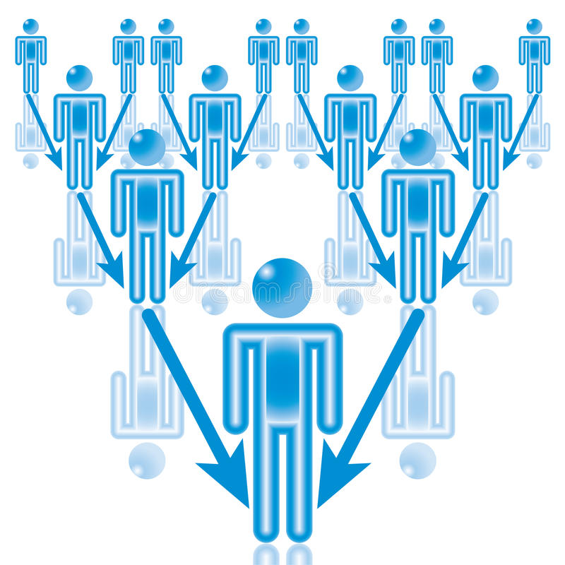 Download 13. Team Leader in blue. stock vector. Image of person - 15279388