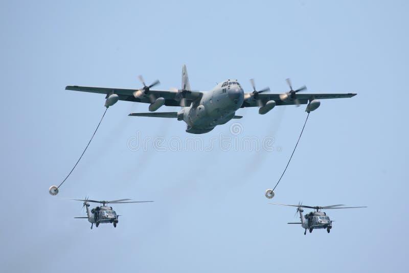 130架直升机kc作战罐车二 库存图片