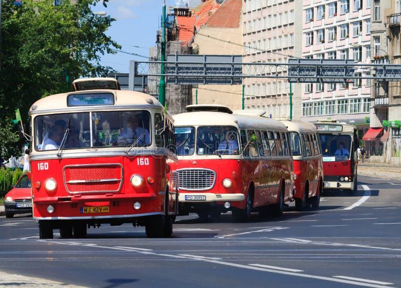 130th anniversaire de transport public photographie stock