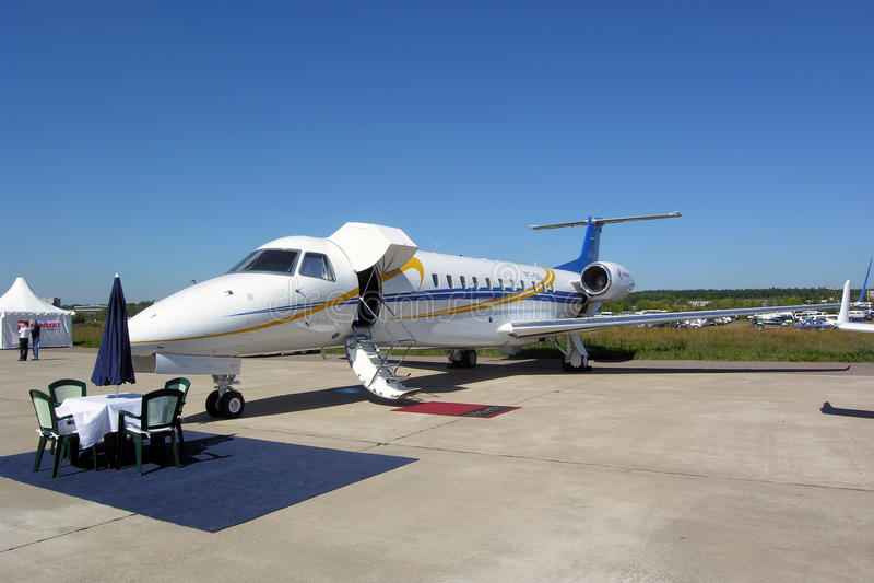 135 samolotów Embraer erj obraz royalty free