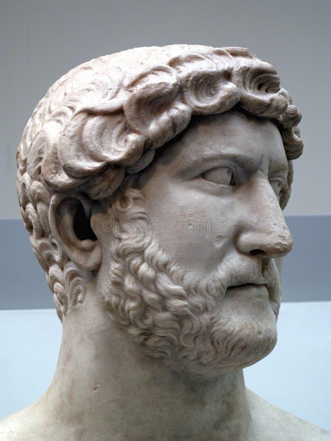 138 ad117 kejsare hadrian rome royaltyfria bilder