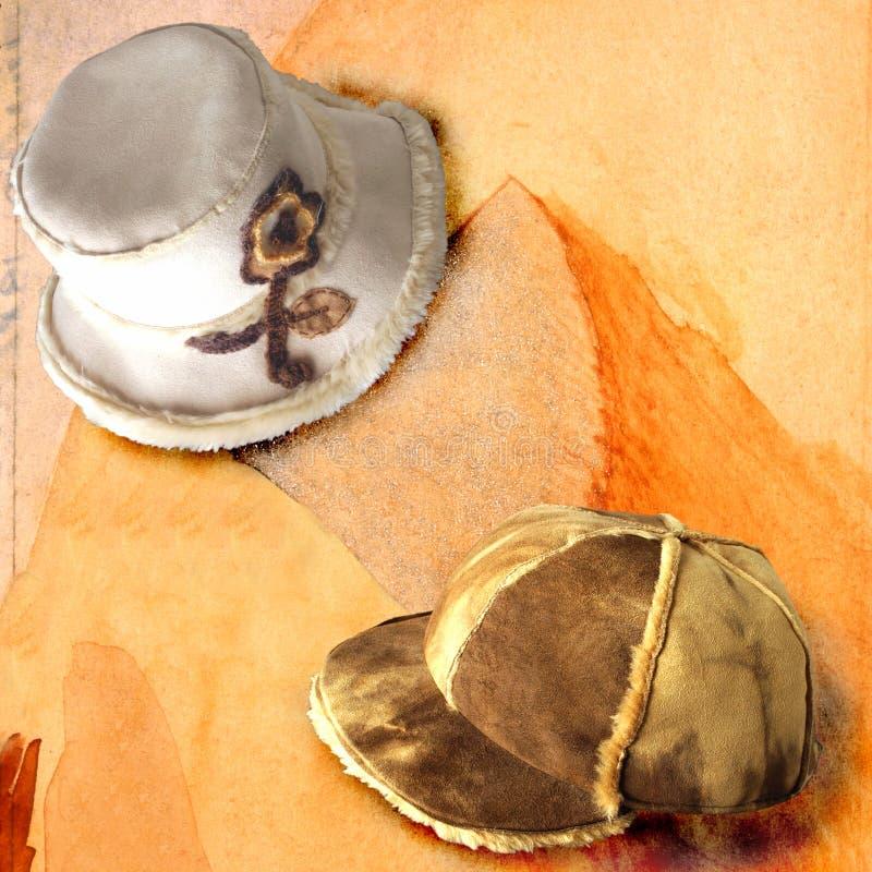14个帽子 免版税库存照片