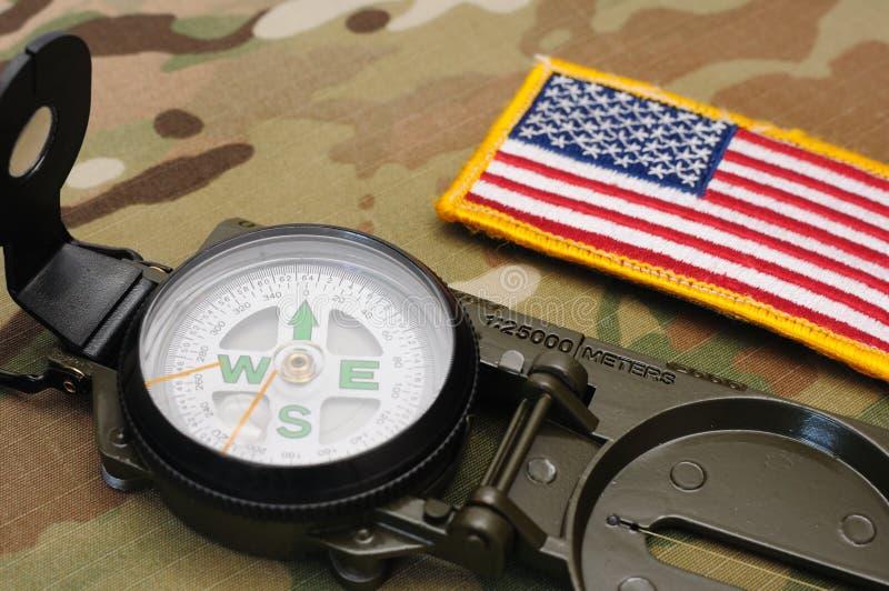 14个指南针军人我们 免版税图库摄影