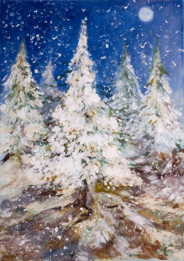 14圣诞树 库存例证