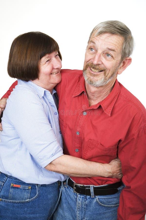 14对夫妇前辈 免版税库存图片
