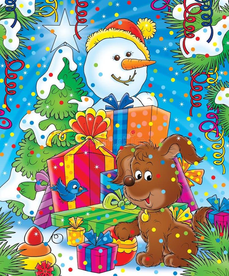 Download 14新年度 库存例证. 插画 包括有 双翼飞机, 雪球, 圣诞节, 毛皮, 结构树, 木头, 子项, 礼品, 冬天 - 190298