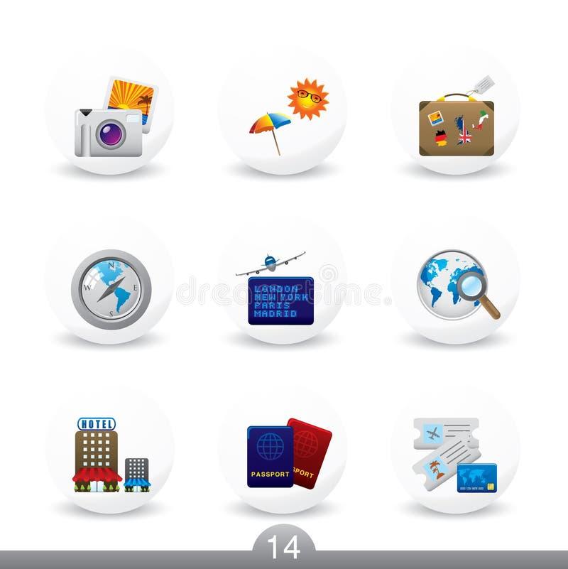14 κουμπιά κανένα ταξίδι σει&r απεικόνιση αποθεμάτων