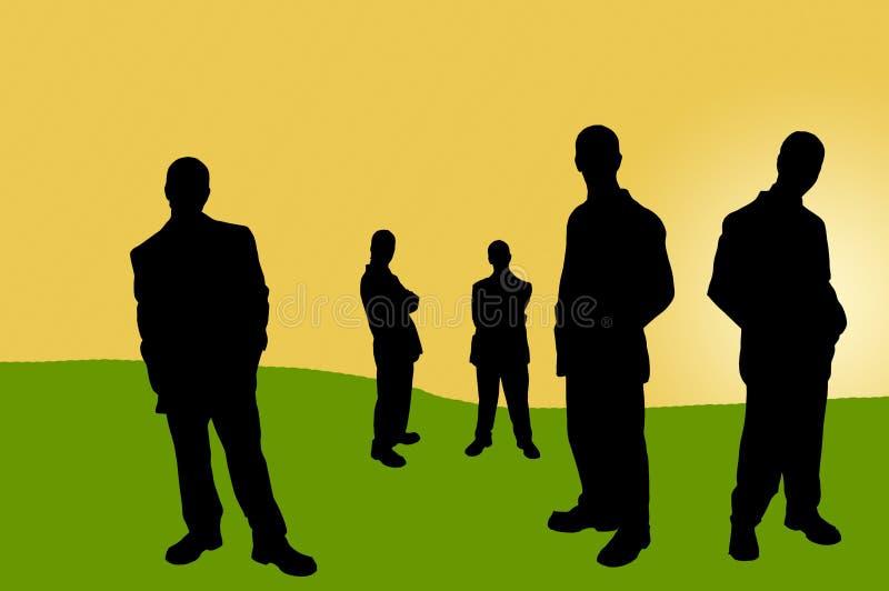Download 14 бизнесмены теней иллюстрация штока. иллюстрации насчитывающей green - 87361