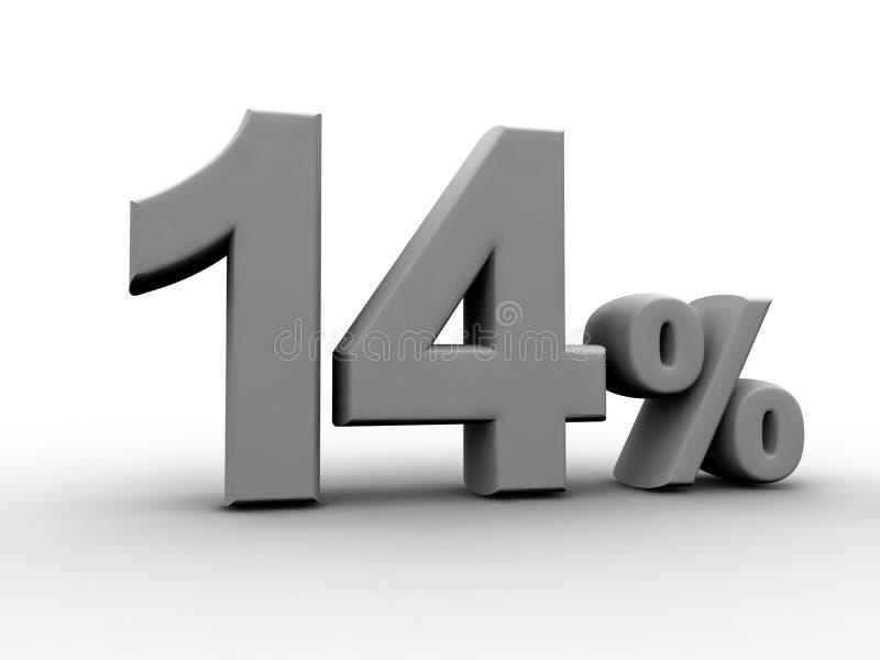 14 процента иллюстрация вектора