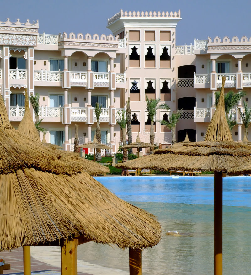 14 hoteli/lów hurghada fotografia royalty free