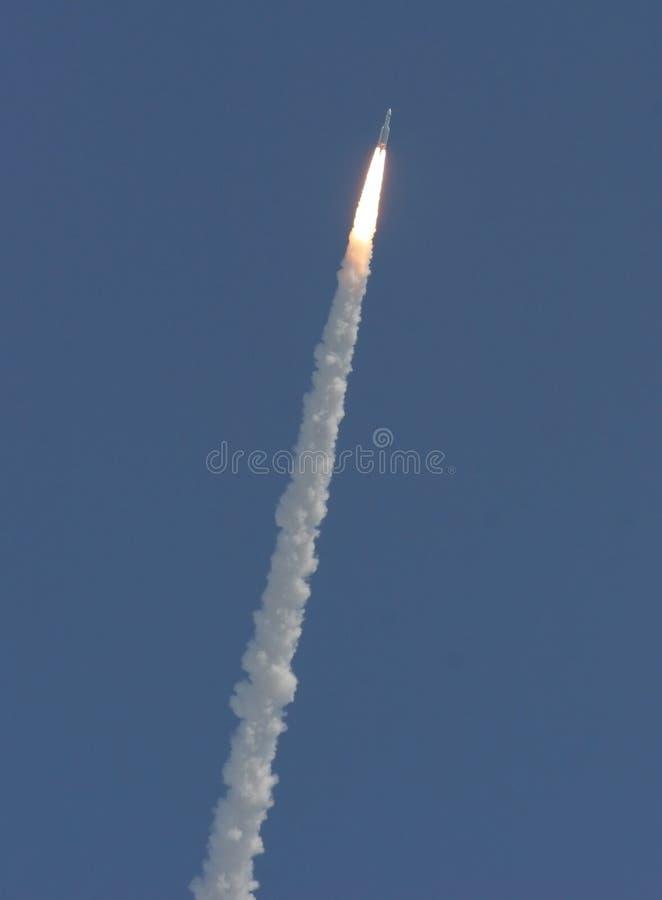 14 MEI, 2009: Ariane 5 lancering stock afbeeldingen