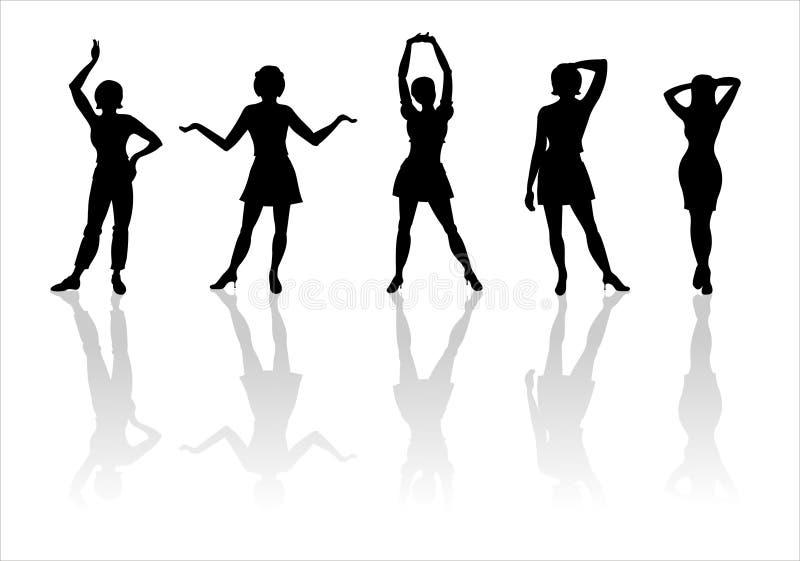 14 mod sylwetki kobieta ilustracji