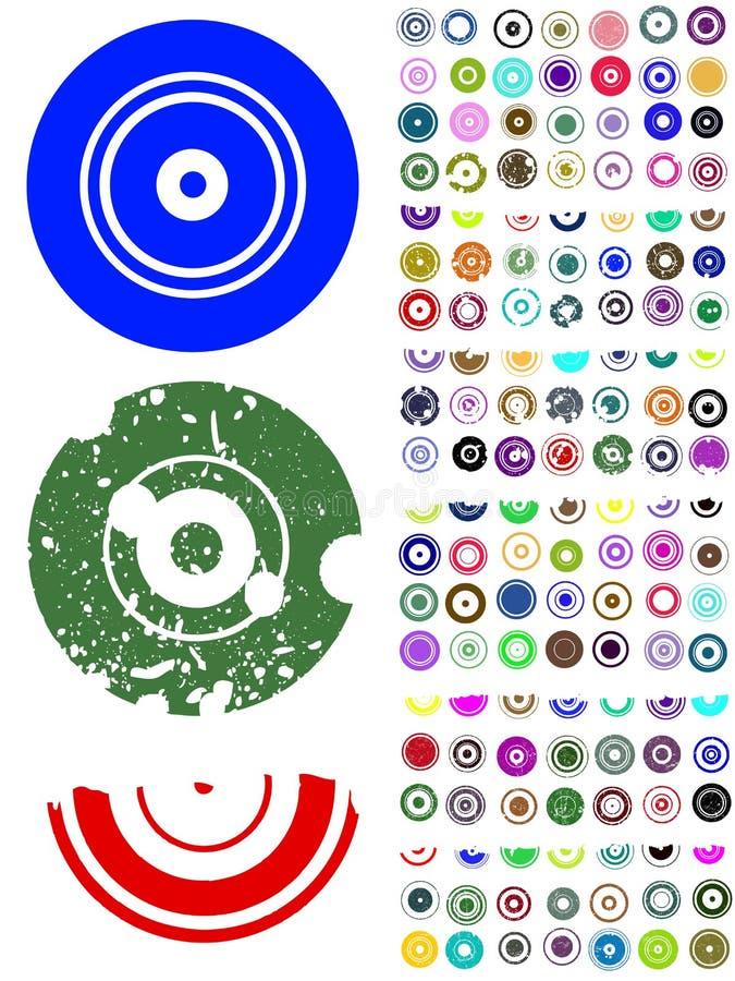 140 Kreis-Grafik-Elemente stock abbildung