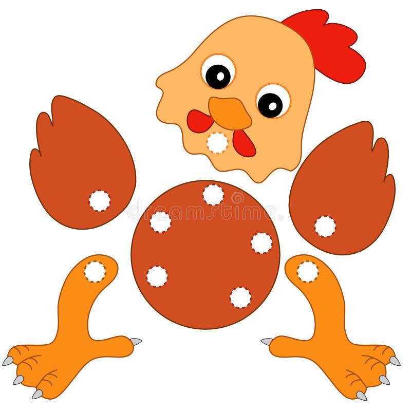 142 να είστε κομμένη κότα παιχν απεικόνιση αποθεμάτων