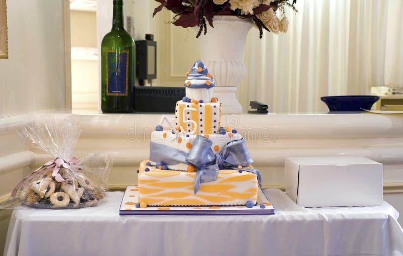 15ème Gâteau d'anniversaire photos stock