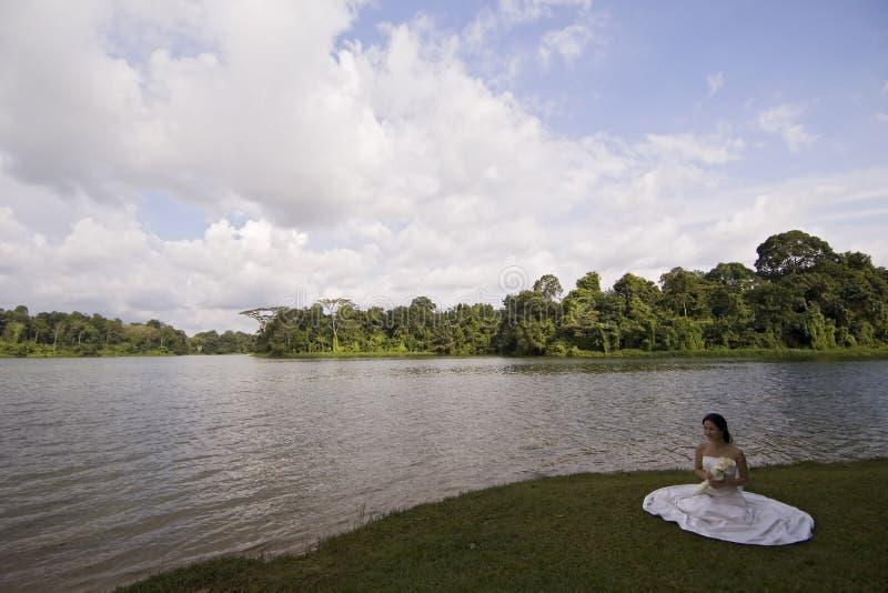 15个亚洲人新娘 免版税库存照片