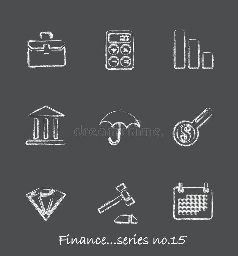 15个黑板财务图标没有系列