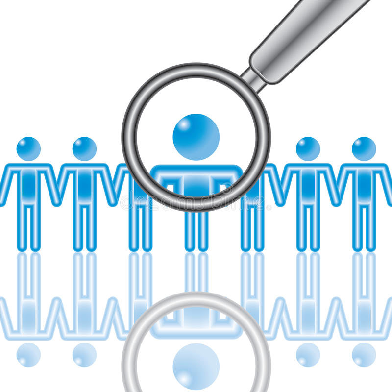 Download 15. Employee Search In Blue. Stock Vector - Image: 15279393