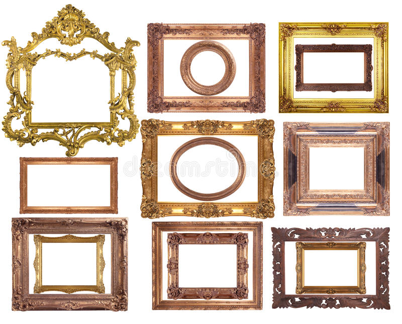 Download 15 Frames stock photo. Image of decoration, decor, bronze - 25150250