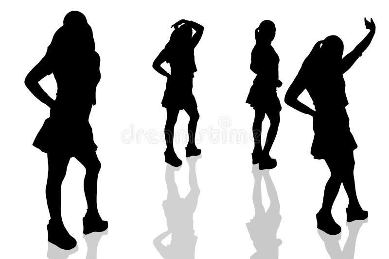 15 illustrerad kvinna stock illustrationer