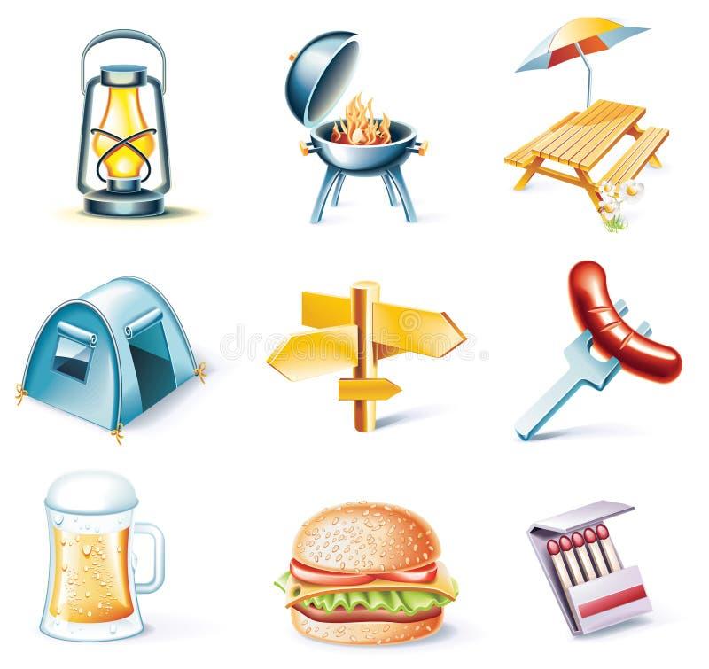 15 kreskówki ikony część setu stylowy target1509_0_ wektor ilustracja wektor