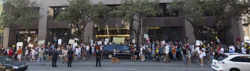 15 marsz Austin zajmuje Październik protest zdjęcia royalty free