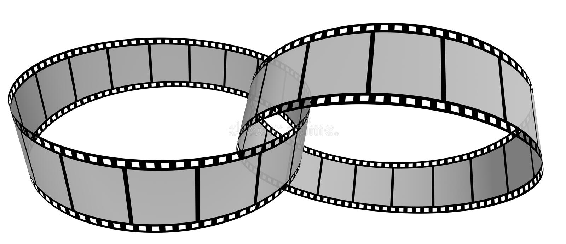 15 pasek filmowego ilustracja wektor