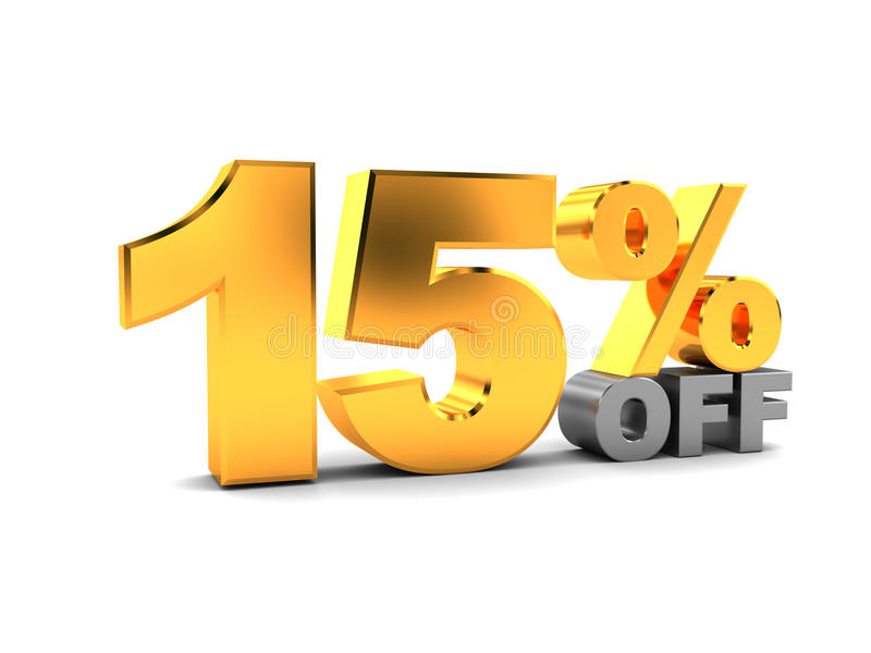 15 percent discount stock illustration