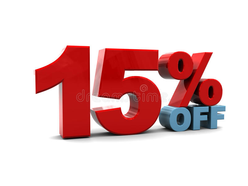Download 15 percent discount stock illustration. Image of discount - 14538518