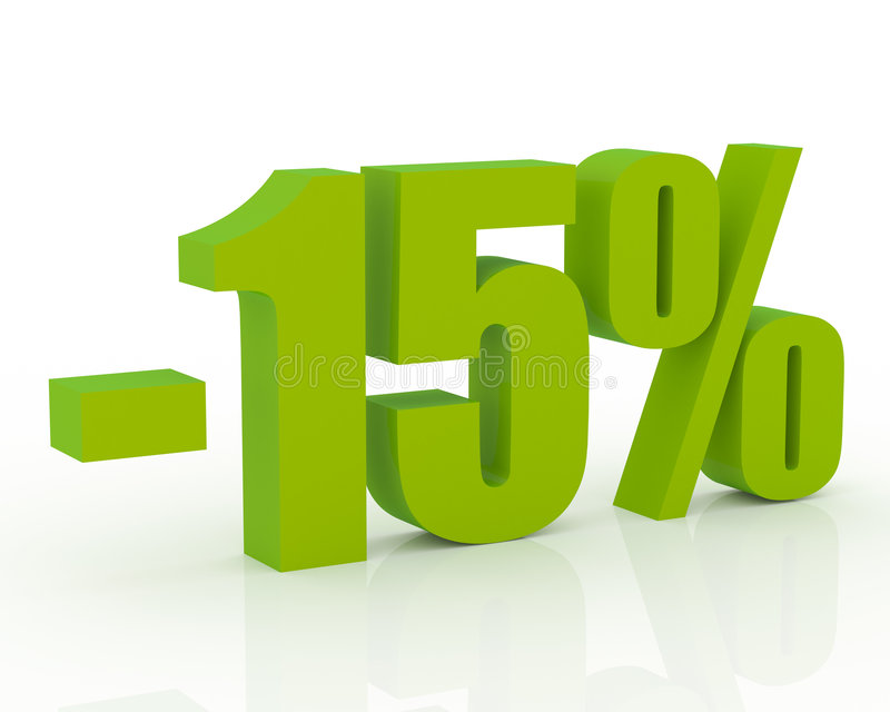 15% Rabatt stock abbildung
