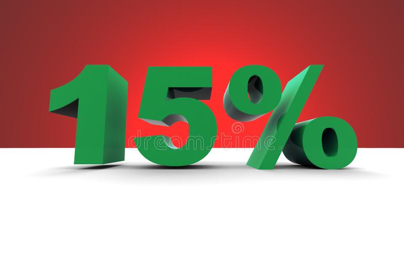 Download 15% With Spotlight Background Stock Illustration - Illustration of business, calculation: 10167555