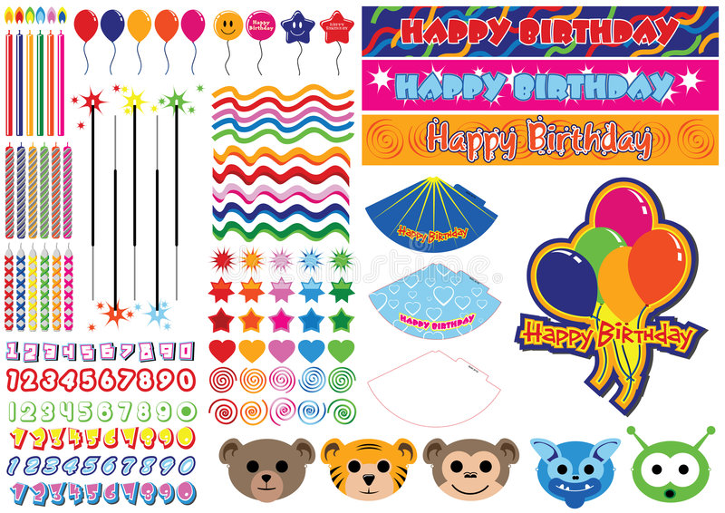 150 Piece Birthday Collection Royalty Free Stock Photography