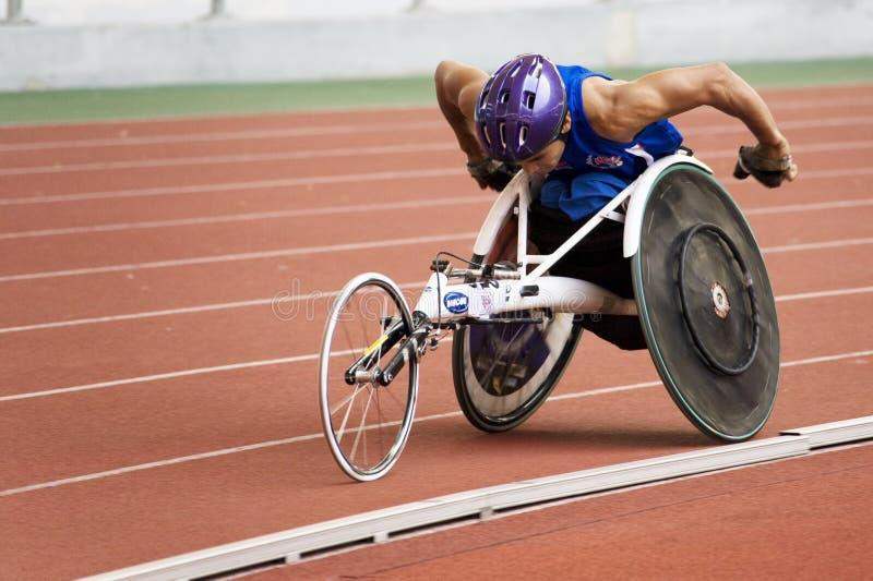 1500 метров людей участвуют в гонке кресло-коляска s стоковое фото rf