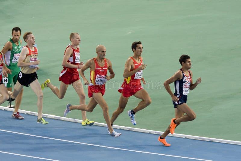 1500 metersmensen stock afbeelding