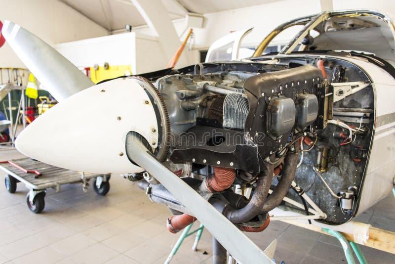152 cessna引擎 免版税图库摄影