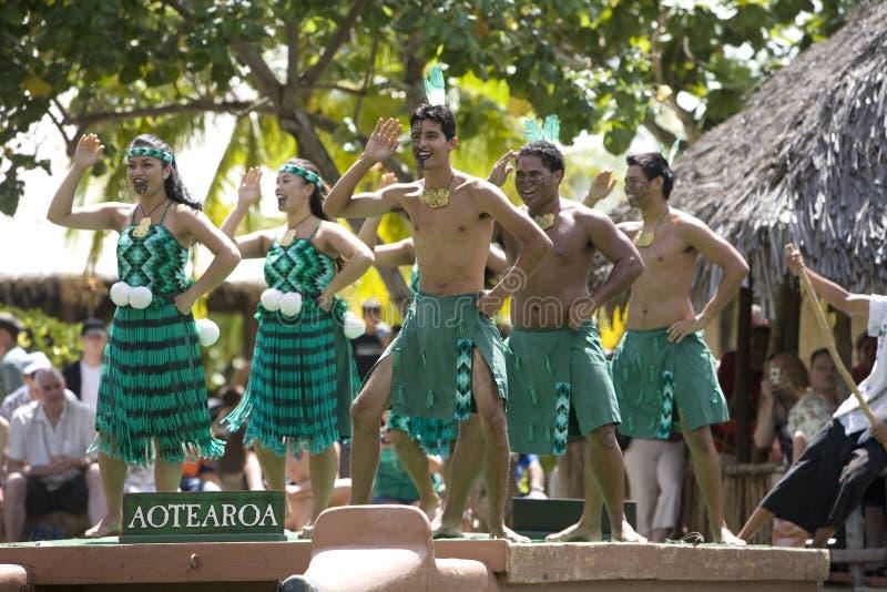 1526 danzatori maori fotografia stock libera da diritti