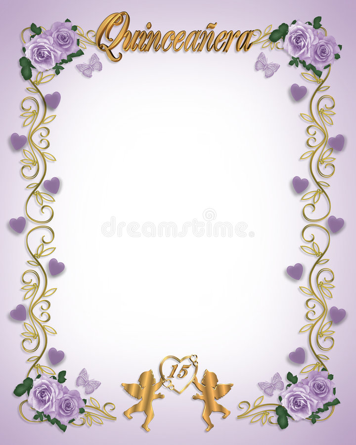 15th Birthday Quinceanera Invitation Stock Illustration ...