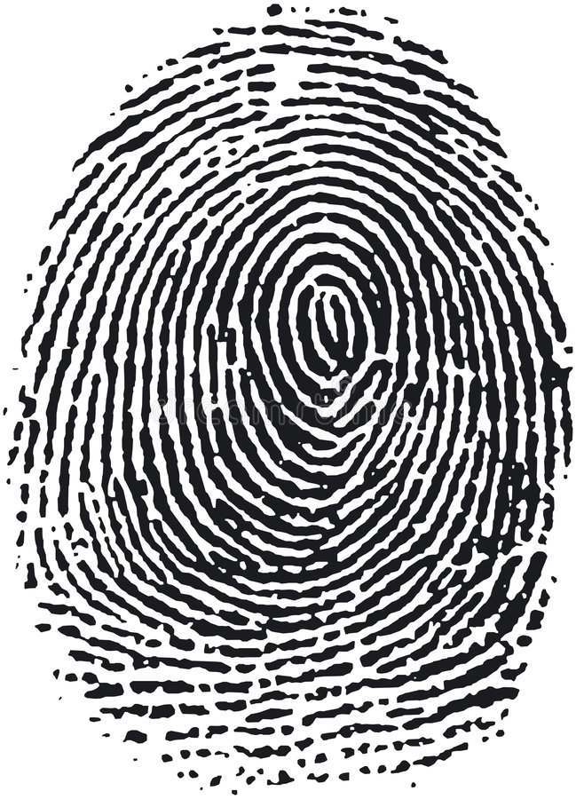 16指纹 皇族释放例证